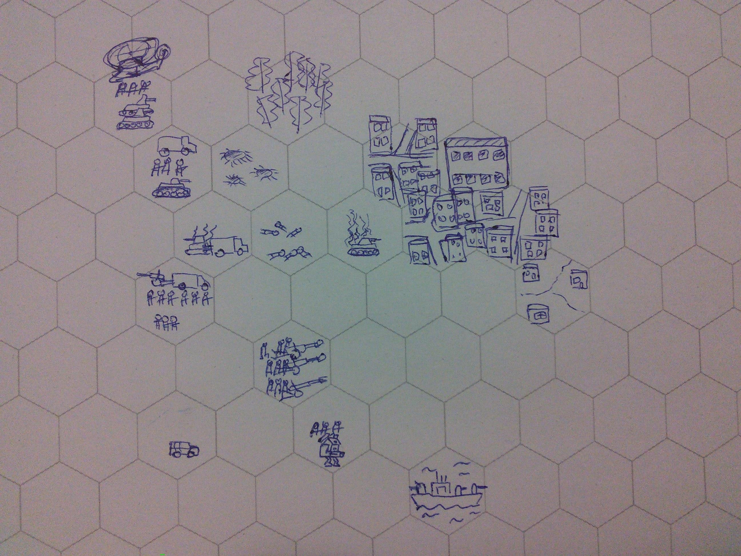 Набросок 2д варианта с абстрактными городами
