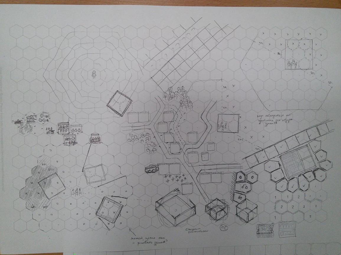 Набросок 2д варианта с конкретными одноклеточными зданиями