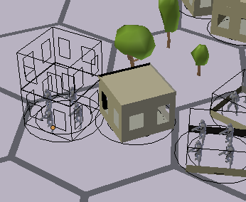 снимок экрана с сеточными зданиями