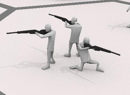 Человечек с винтовкой