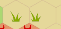 two tiles of grass