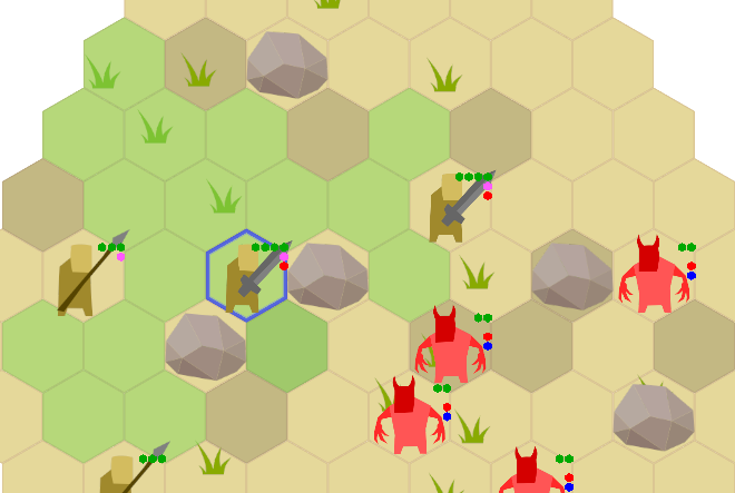 a map with some boulders and rock tiles