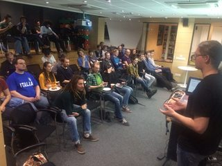 me presenting a talk about zoc and zemeroth on spb meetup