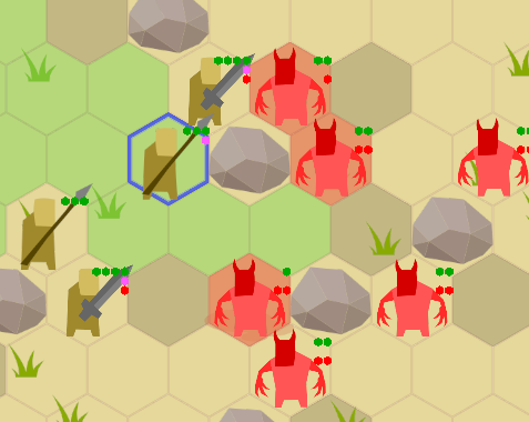 spearman can attack distant enemies