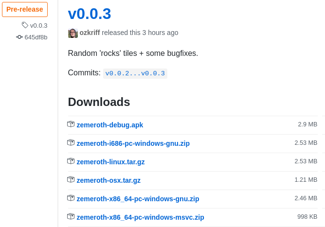 v.0.0.3 release page